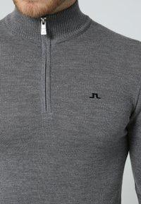 J.LINDEBERG - KIAN TOUR - Stickad tröja - grey melange - 5