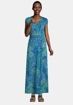 Maxi dress - deep sea navy mosaic geo