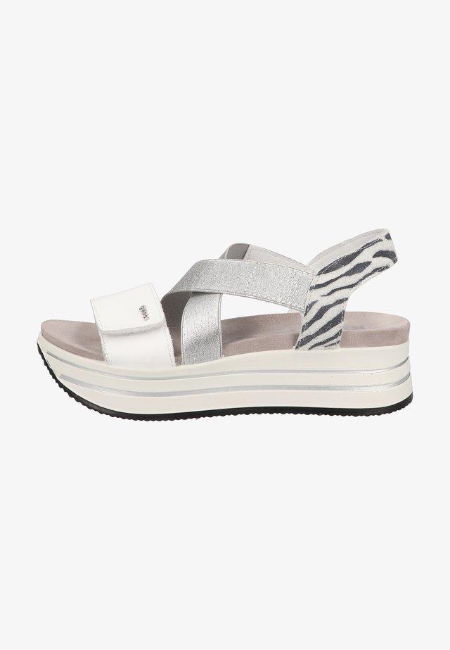 Sandales à plateforme - bianco