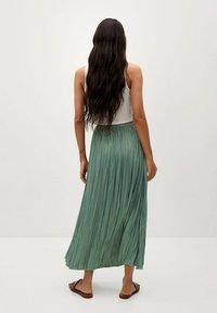 Mango - PALMER - Plisovaná sukně - aquamarijn - 2