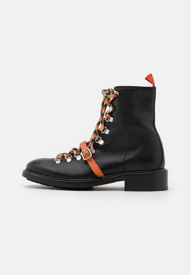 PEPPER - Bottines à lacets - black