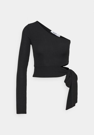 ONE SLEEVE - Long sleeved top - black