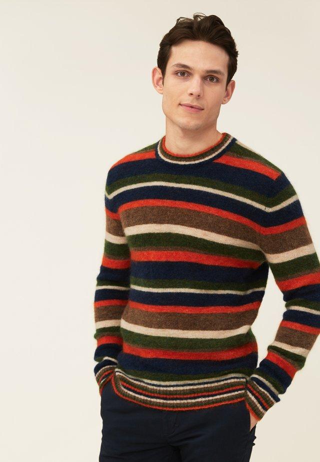 MONTY BLEND - Stickad tröja - multi stripe
