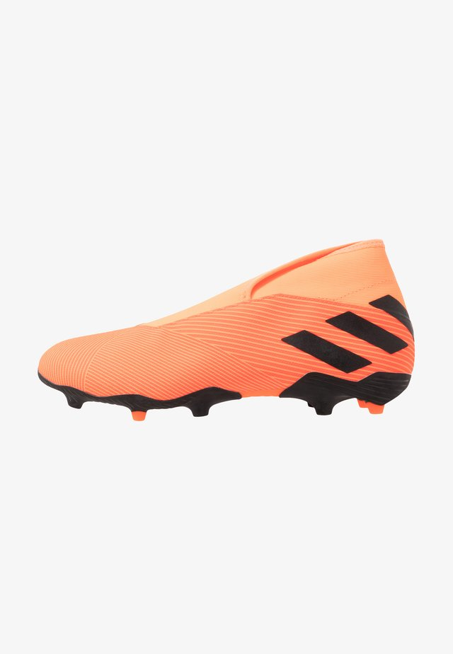 NEMEZIZ 19.3 LL FG - Moulded stud football boots - signal coral/core black/solar red