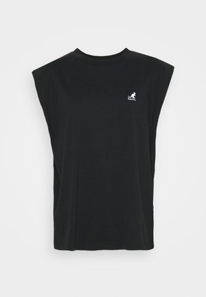 QUEENS TANK - T-shirt z nadrukiem - black