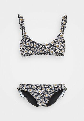CROP BRALETTE FULL SET - Bikini - black