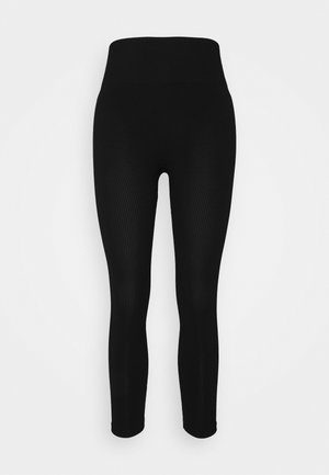 SEAMLESS LEGGINGS  - Trikoot - black