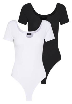OPENING SHORT SLEEVES 2 PACK - Jednoduché triko - white/black