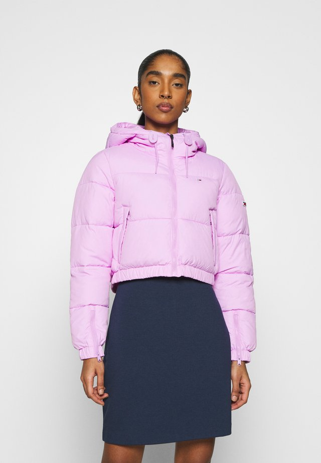 CROPPED PUFFER - Winter jacket - fresh orchid