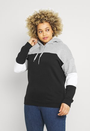 COLOUR BLOCK HOODIE - Sweatshirt - grey