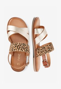 Next - PINK/ ZEBRA CROSS STRAP SANDALS (OLDER) - Sandals - gold - 1