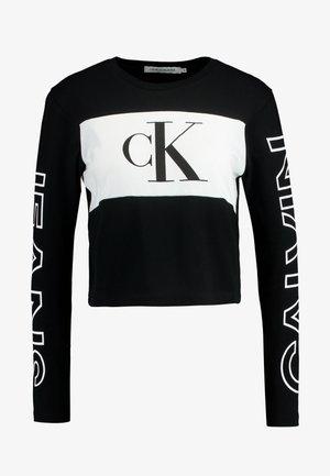 BLOCKING STATEMENT LOGO TEE - Long sleeved top - black