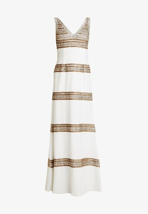 BEADED LONG DRESS - Occasion wear - ivory/gold