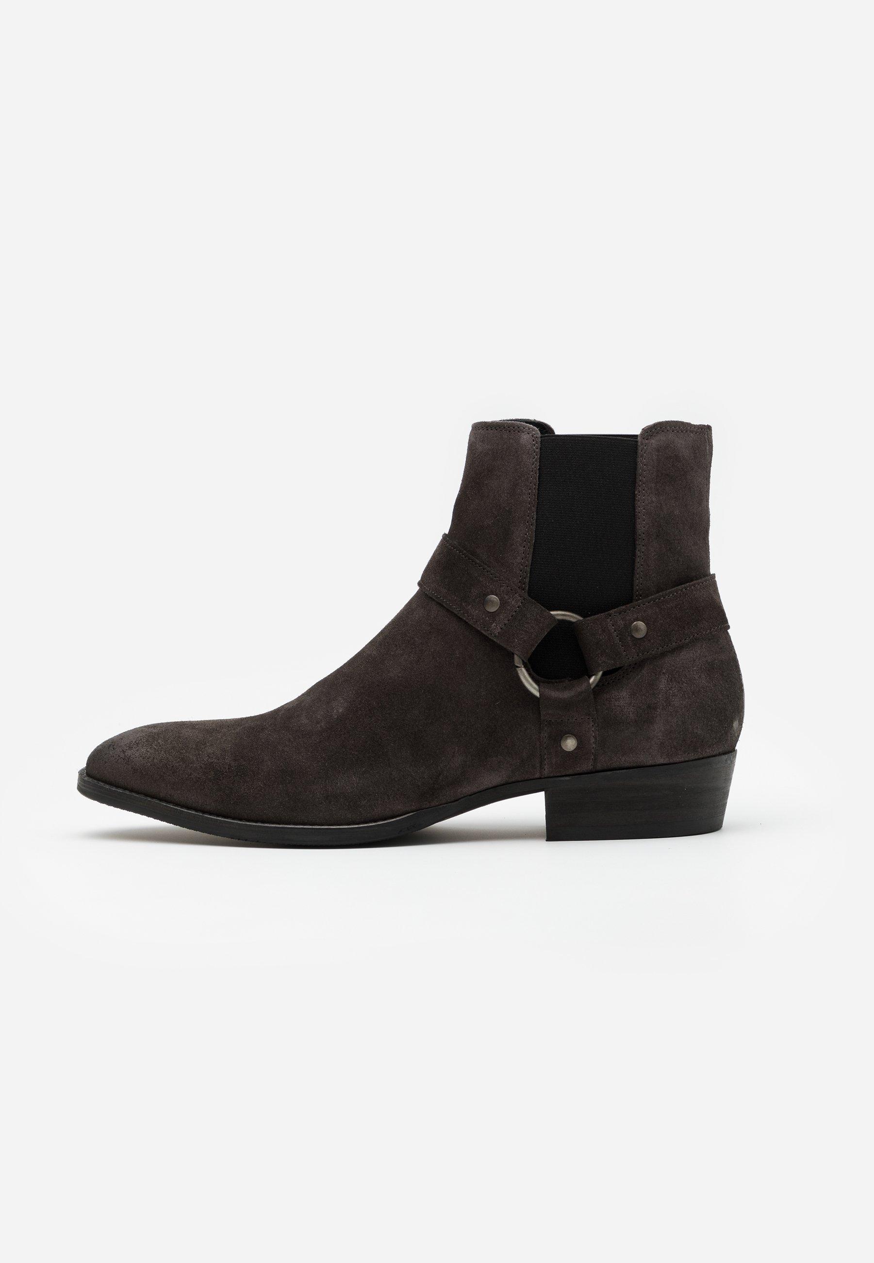 Men BIABEACK WESTERN - Cowboy/biker ankle boot - dark grey