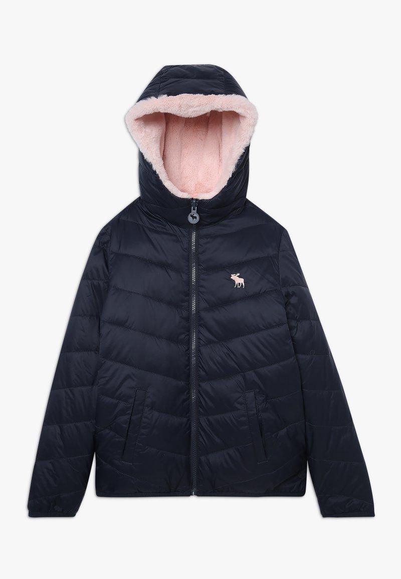 Abercrombie & Fitch - COZY PUFFER - Zimní bunda - navy/pink