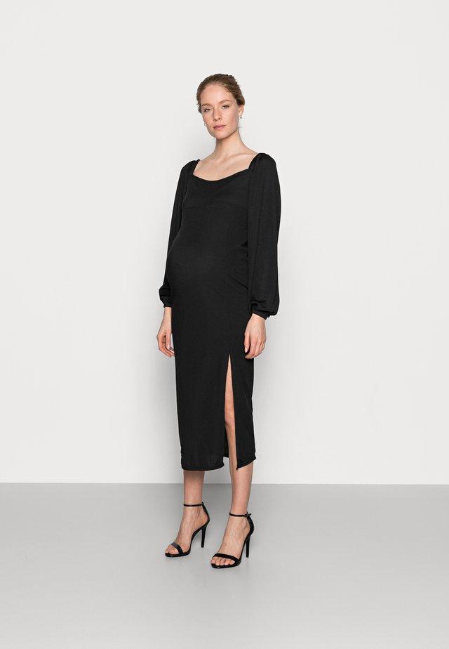 MILKMAID MIDAXI DRESS - Jerseyjurk - black
