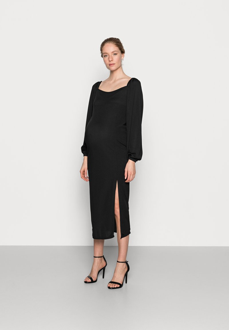 Missguided Maternity - MILKMAID MIDAXI DRESS - Žerzejové šaty - black