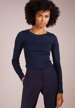 PERFECT FIT CREW - Long sleeved top - navy