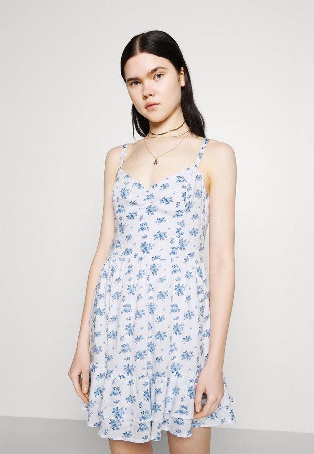 BARE SHORT DRESS - Freizeitkleid - white