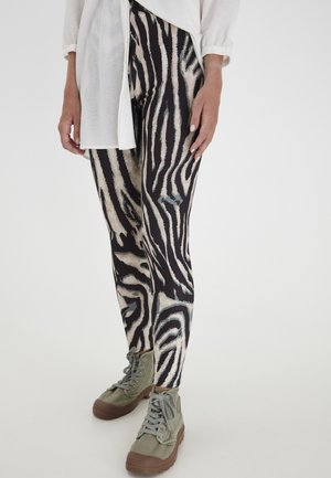 Leggings - black animal mix