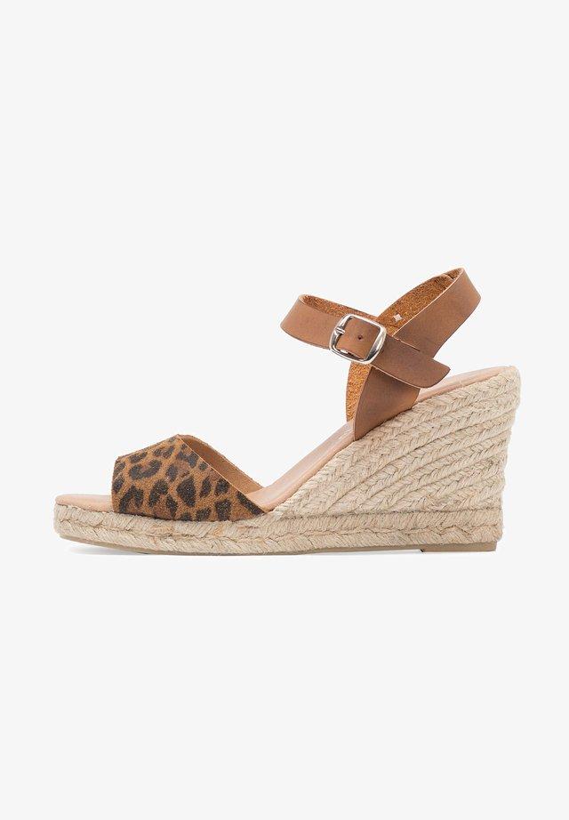 MARIA BARCELO ALTA LEOPARDO - High heeled sandals - leopardo