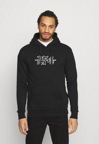 274 - APPLIQUE HOODIE - Sweater - black - 0