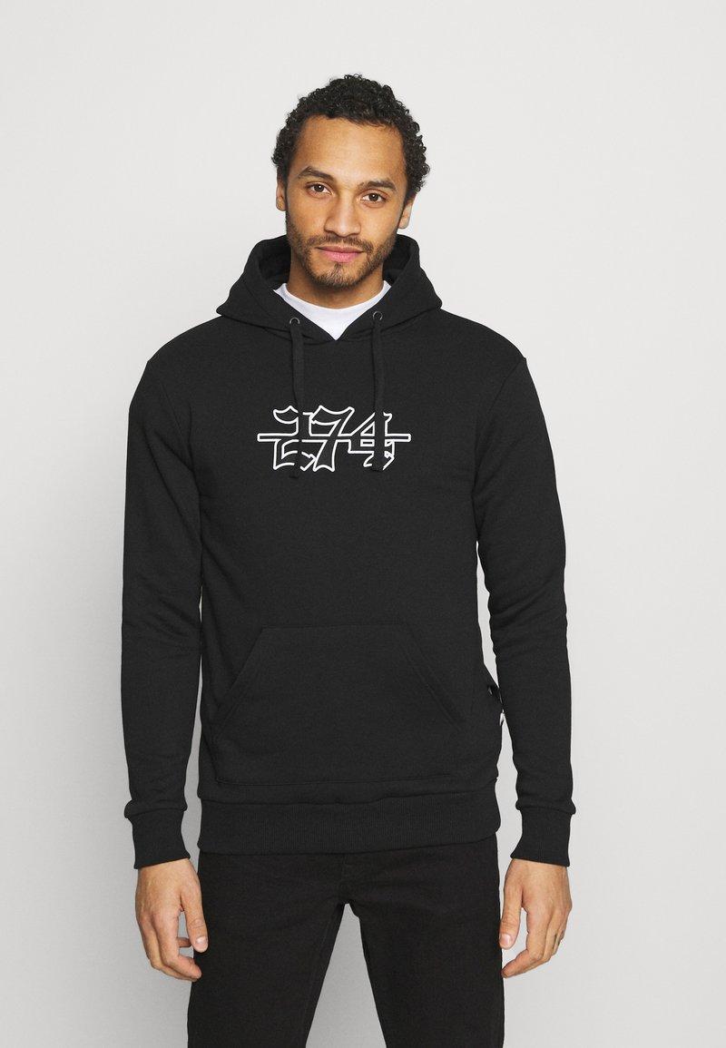 274 - APPLIQUE HOODIE - Sweater - black