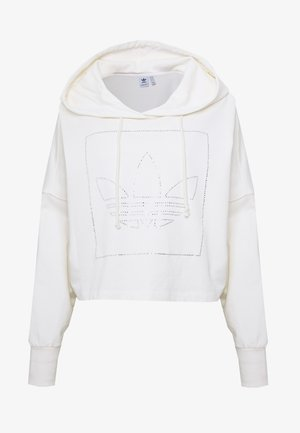 CROP HOODIE - Mikina s kapucí - chalk white