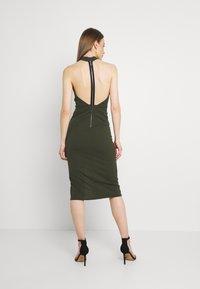 WAL G. - JAYNE LEE HALTER NECK DRESS - Cocktail dress / Party dress - khaki - 2