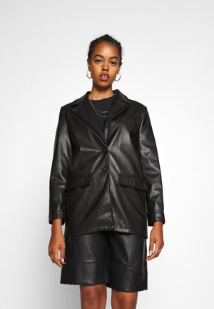 HENNY - Faux leather jacket - black