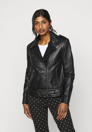 VILLOW BIKER JACKET  - Leather jacket - black