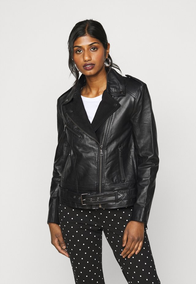 VILLOW BIKER JACKET  - Lederjacke - black