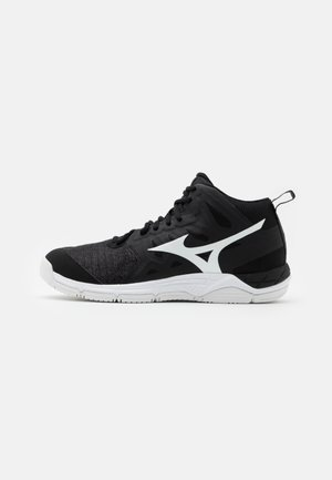 WAVE SUPERSONIC 2 MID - Volleyball shoes - black/white/dark shadow