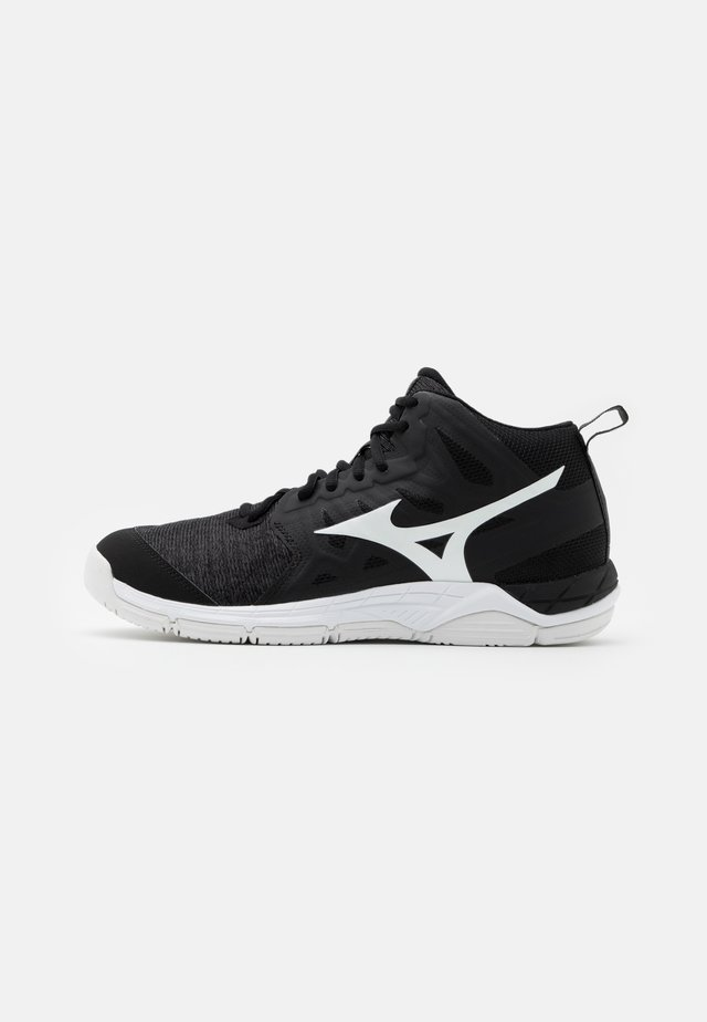 WAVE SUPERSONIC 2 MID - Scarpe da pallavolo - black/white/dark shadow