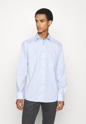 Slim Fit -  Micro Checked Twill Shirt - Kauluspaita - blue