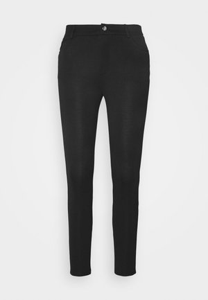 Slim Fit Punto Trousers - Trousers - black