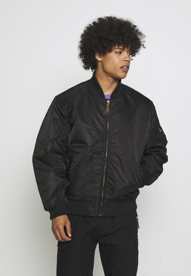 LIVEUTION REVERSIBLE JACKET UNISEX - Giubbotto Bomber - black