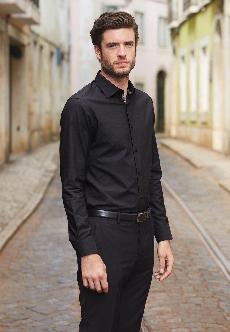 Next - SIGNATURE - Camicia elegante - black