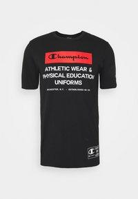 Champion - LEGACY TRAINING CREWNECK - T-shirt con stampa - black - 4