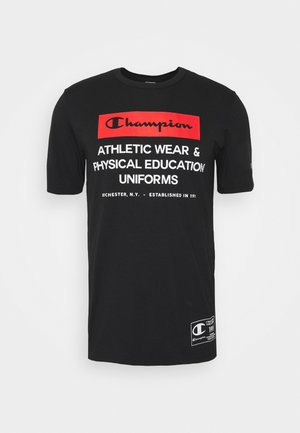 LEGACY TRAINING CREWNECK - T-shirt z nadrukiem - black