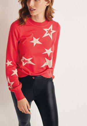 STAR PRINT - Jumper - red