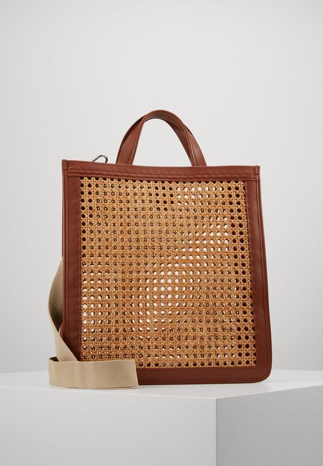 BORSA PAGLIA BOTTALATINO - Shopping bag - brule