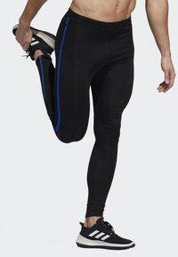adidas Performance - OWN THE RUN LONG TIGHTS - Caleçon long - black/blue - 3