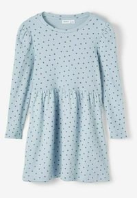 Name it - GEPUNKTETES RIPPDESIGN - Day dress - dusty blue - 2