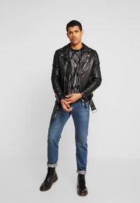 AllSaints - RIGG BIKER - Leather jacket - black - 1