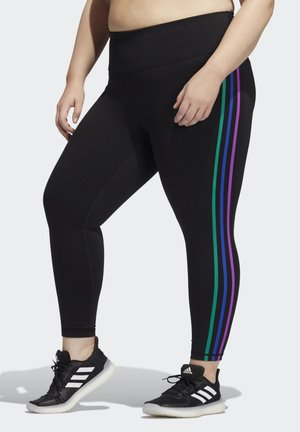 PRIDE BELIEVE THIS 2.0 3-STRIPES 7/8 LEGGINGS - Tights - black