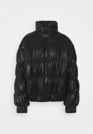 STATEMENT RUCHED PUFFER - Winter jacket - black