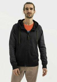 camel active - Zip-up sweatshirt - asphalt - 0