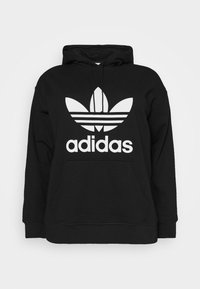 adidas Originals - TREFOIL HOODIE ADICOLOR HOODED - Huppari - black/white - 0