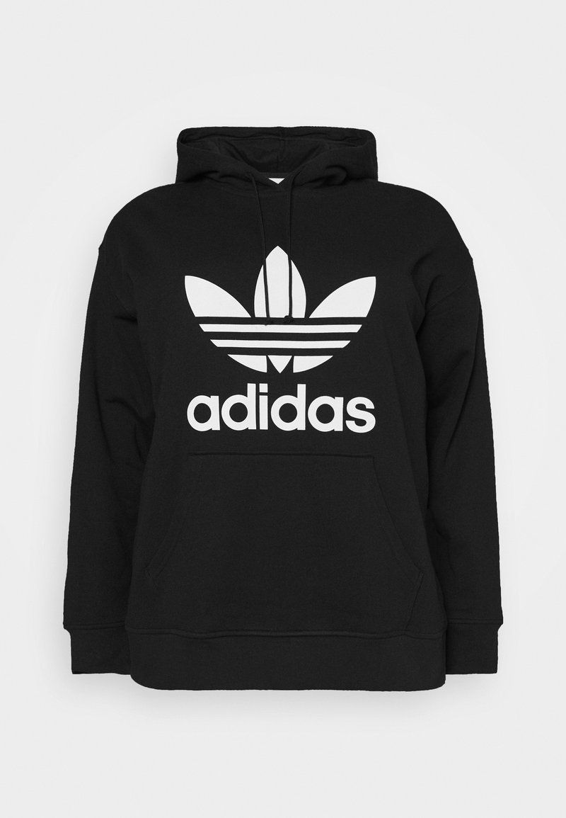 adidas Originals - TREFOIL HOODIE ADICOLOR HOODED - Huppari - black/white